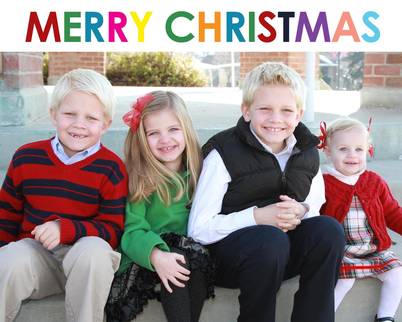 Family of four christmas card ideas – Christmas 2018